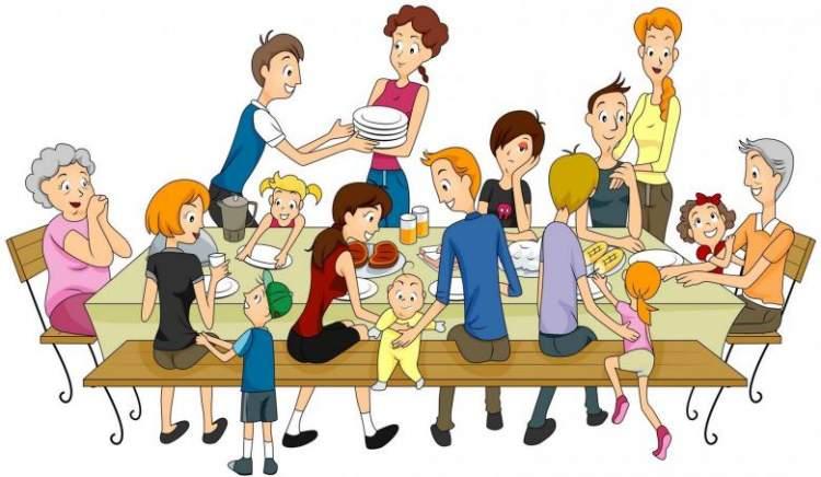 akraba kalabalığı görmek