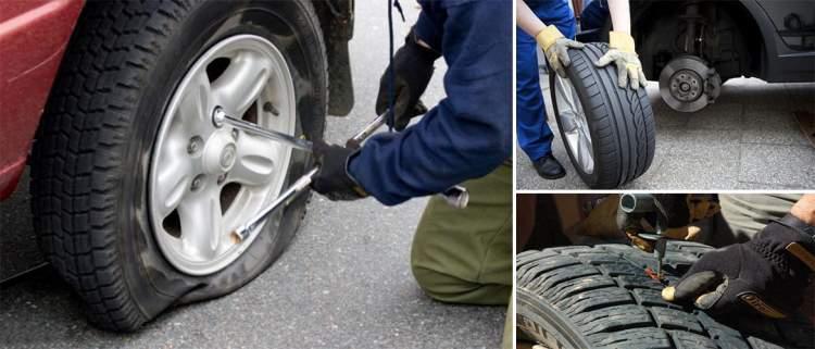 araba lastiği tamir etmek