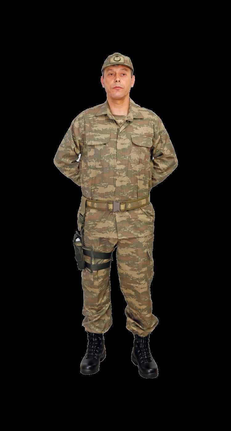 asker kıyafeti giydiğini görmek