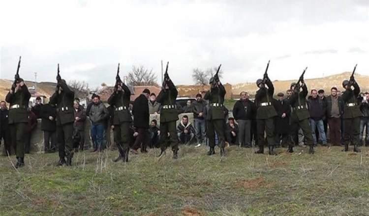 askerin ateş etmesi