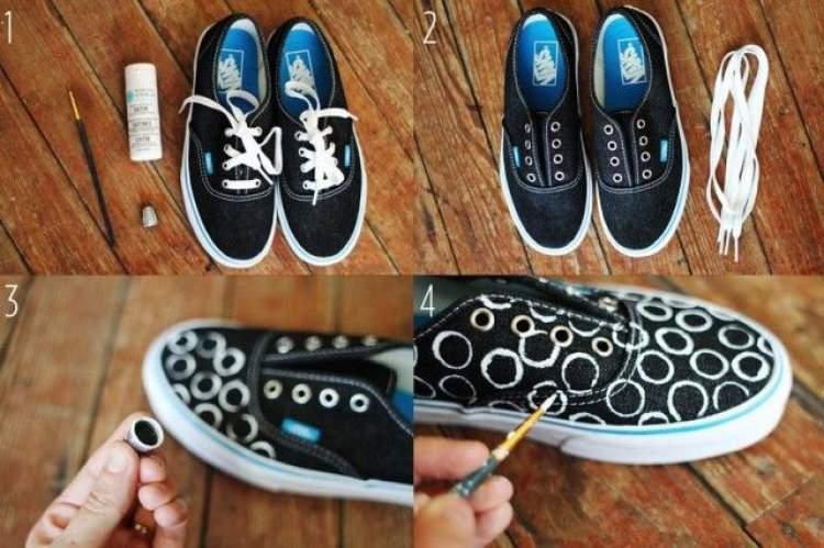 ayakkabı boyadığını görmek