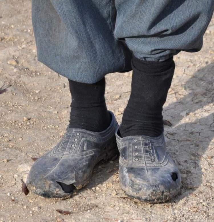ayakkabı yırtılması