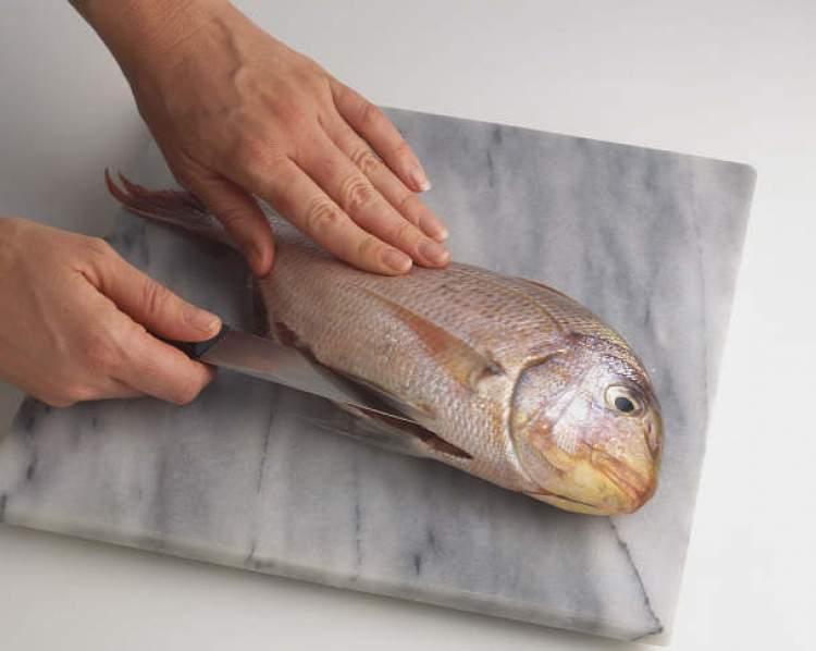 balık temizlediğini görmek