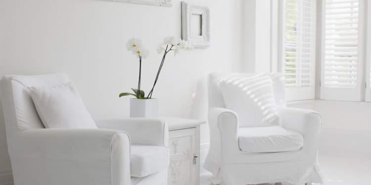 beyaz badanalı ev görmek