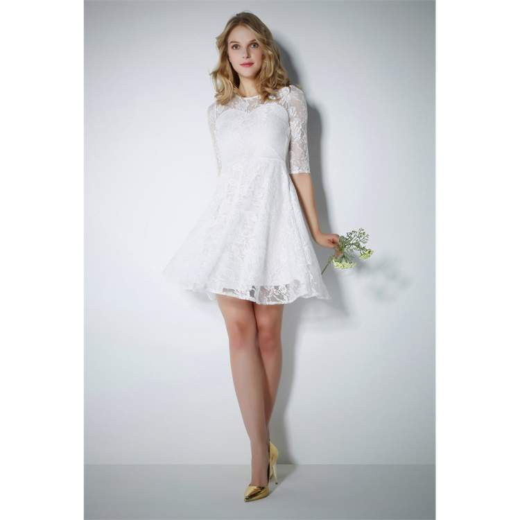 beyaz elbiseli birini görmek