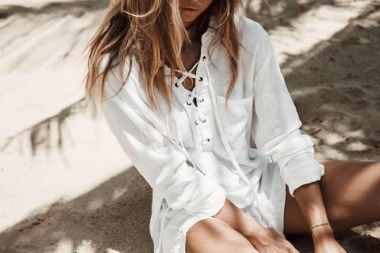 beyaz gömlek görmek