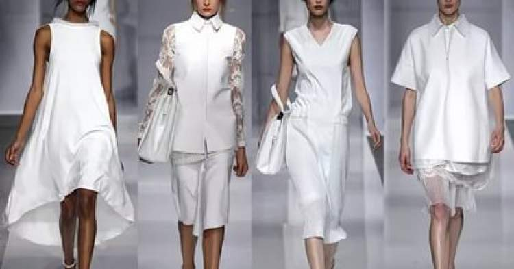 beyaz kıyafet giymek