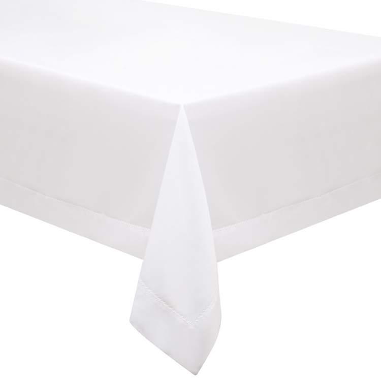 beyaz örtülü masa görmek