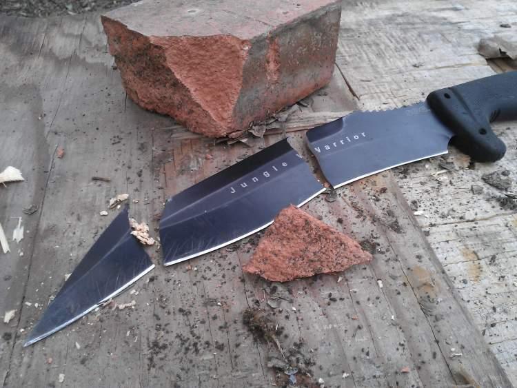 bıçağın kırıldığını görmek