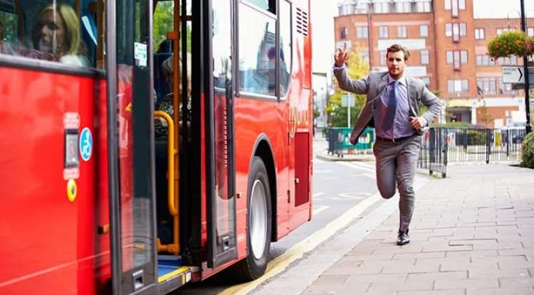 bineceği otobüsü kaçırmak