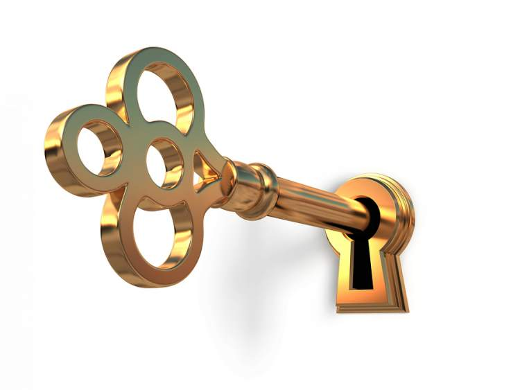 birine anahtar vermek