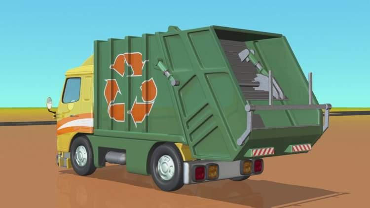 çöp kamyonu görmek