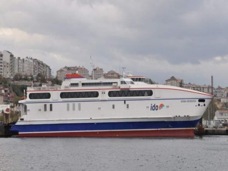 deniz otobüsüne binmek
