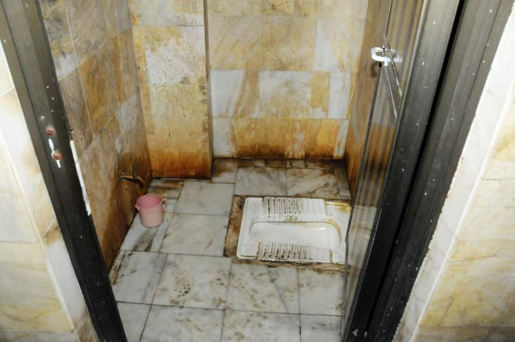 eski tuvalet görmek