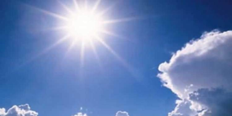 güneşli hava görmek