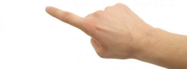işaret parmağının kopması