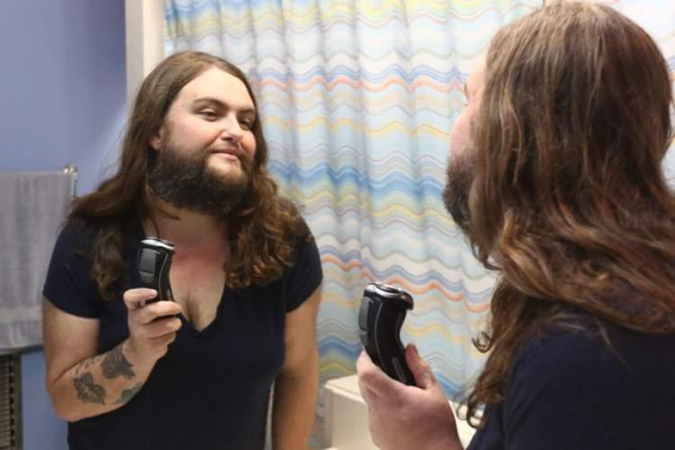 kadının sakalının çıktığını görmek