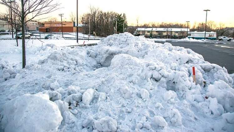 kar yığını görmek