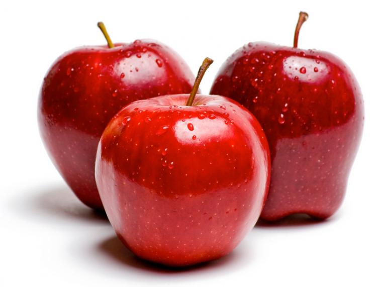 kırmızı elma toplamak