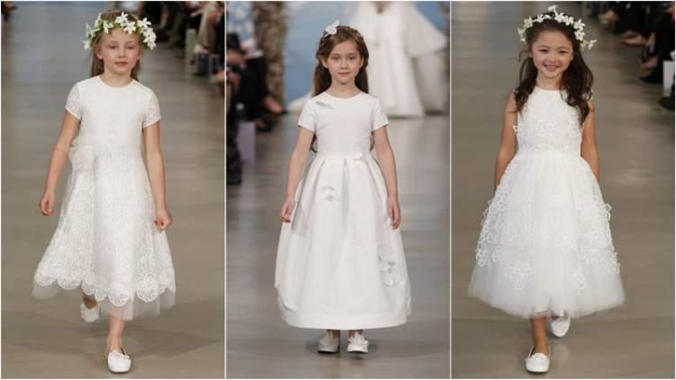 küçük kızın gelinlik giymesi