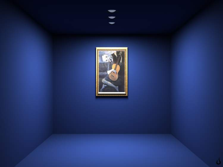 mavi boyalı oda görmek