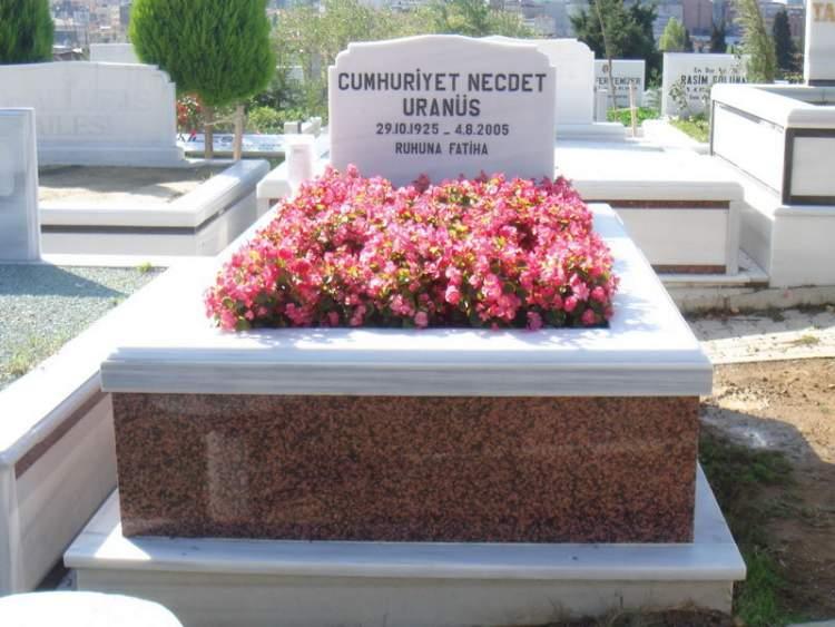 mezarlıkta çiçek görmek