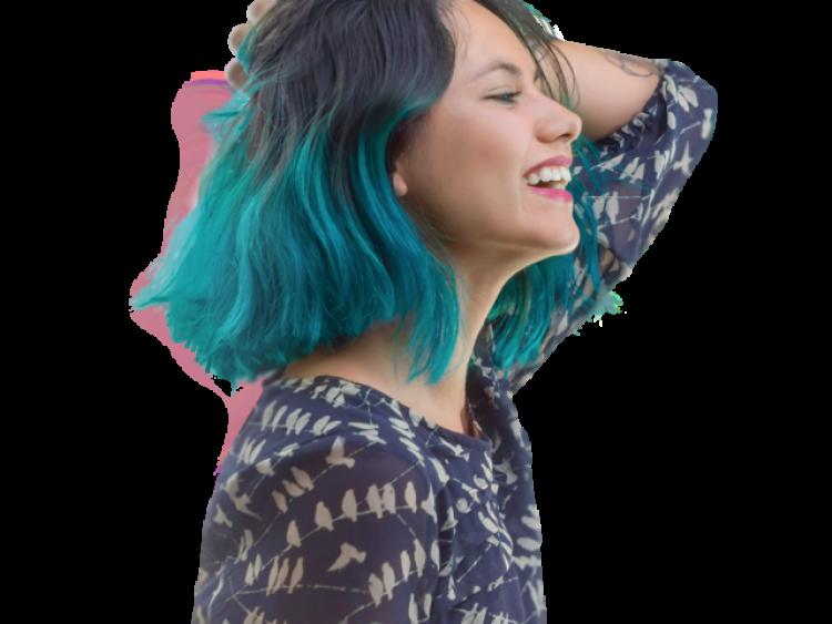 saçı maviye boyatmak