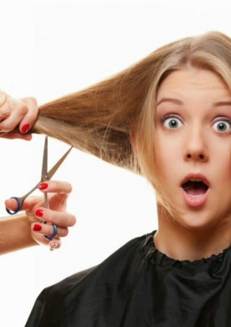 saçının kesildiğini görmek