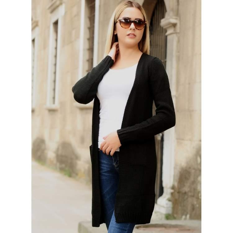 siyah hırka giymek