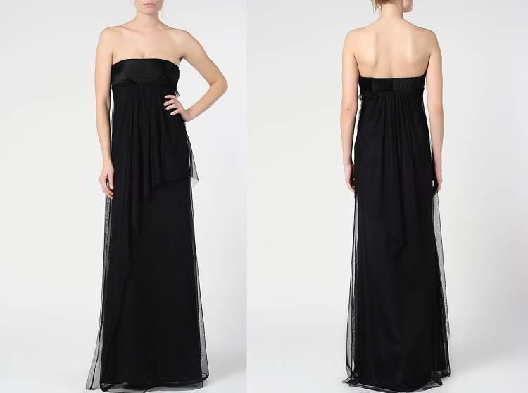 siyah uzun elbise giymek