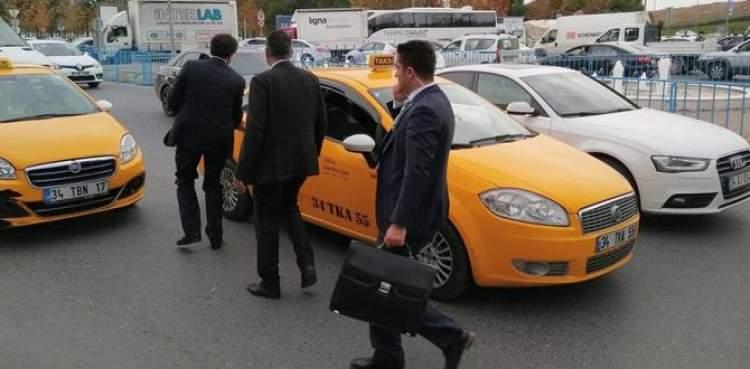 taksiye binmek