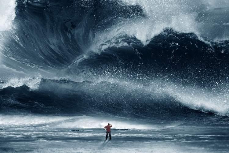 tsunamiden kaçmak