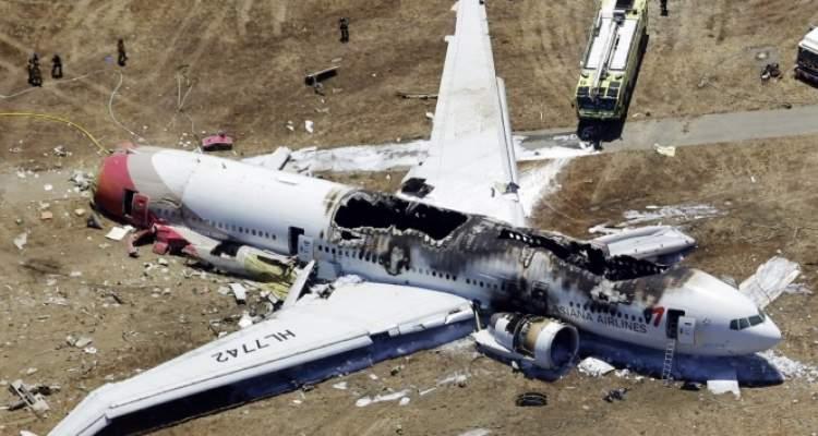 uçağın düştüğünü görmek