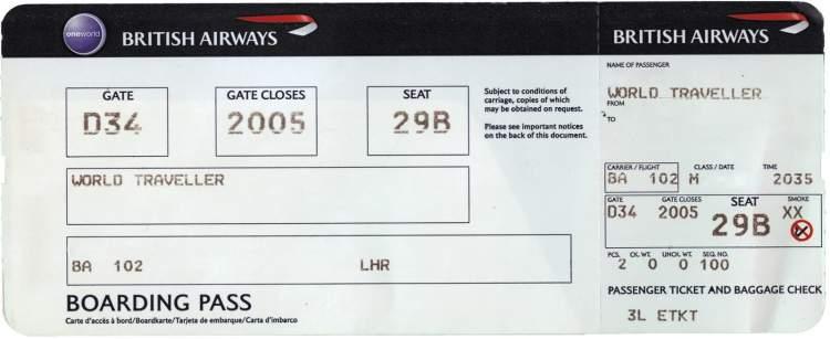 uçak bileti görmek