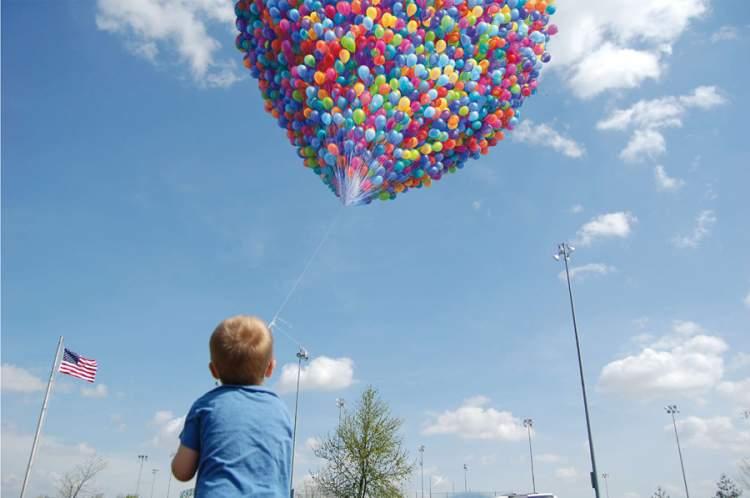 uçan balonlar görmek