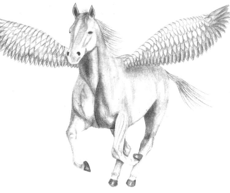 uçan beyaz at görmek