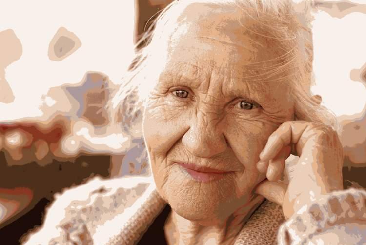 yaşlı bir kadın görmek
