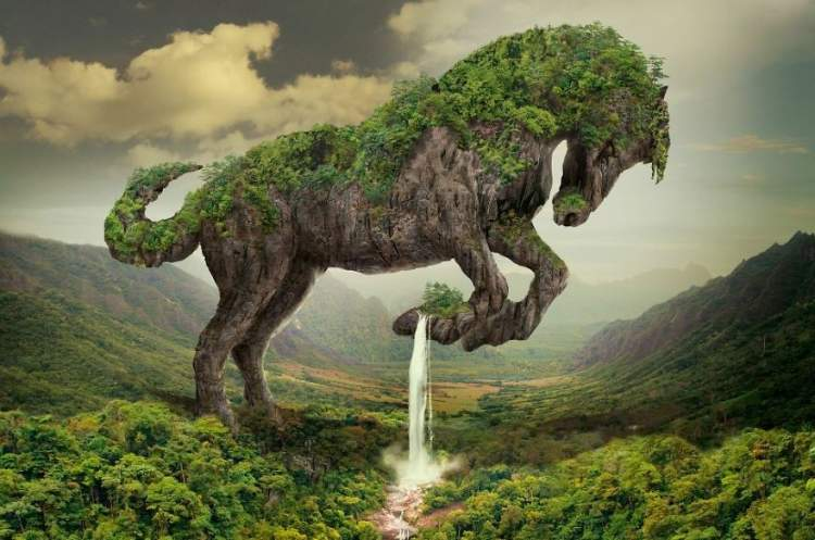 yeşil at görmek