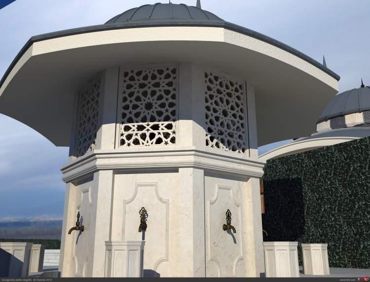 camide şadırvan görmek